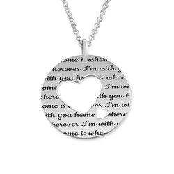 Collar círculo de amor en plata foto de producto