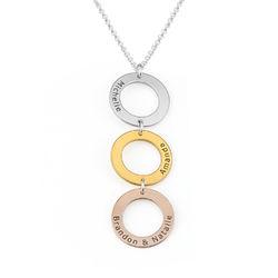 Collar Personalizado con 3 Circulos Verticales en Tricolor foto de producto