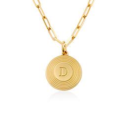 Collar inicial Odeion en chapado de oro vermeil 18k foto de producto