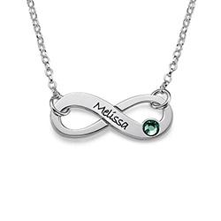 Collar Infinito Grabado con Cristal foto de producto