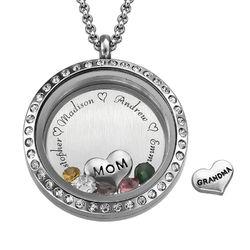 Medallón grabado con charms para Mamá o Abuela foto de producto