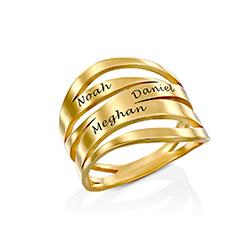 Anillo personalizado Margeaux en oro Vermeil foto de producto