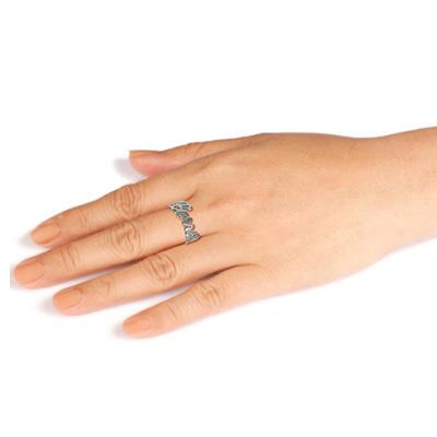"""Persoonlijke Uitgesneden """"Carrie"""" stijl Naam Ring in 925 Zilver - 1"""