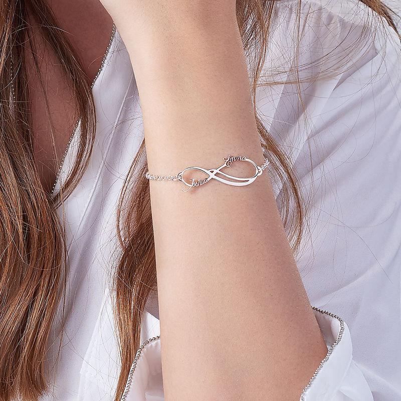 Infinity 2 Namen Armband - 1
