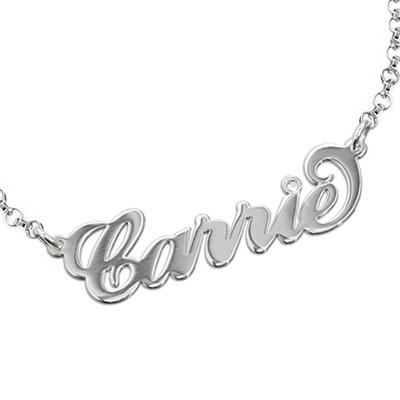 """925 Zilveren """"Carrie"""" Stijl Naam Armband / Enkelband met Kristal"""