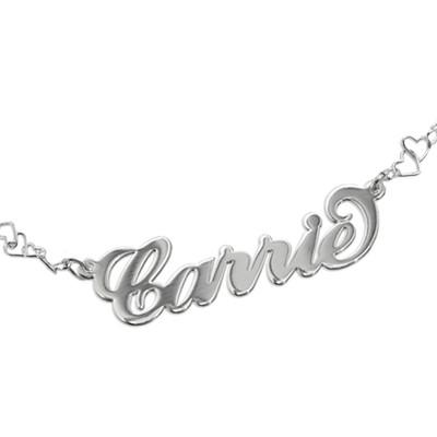Carrie stijl Naam Armband / Enkelband met Hart Armband - 1