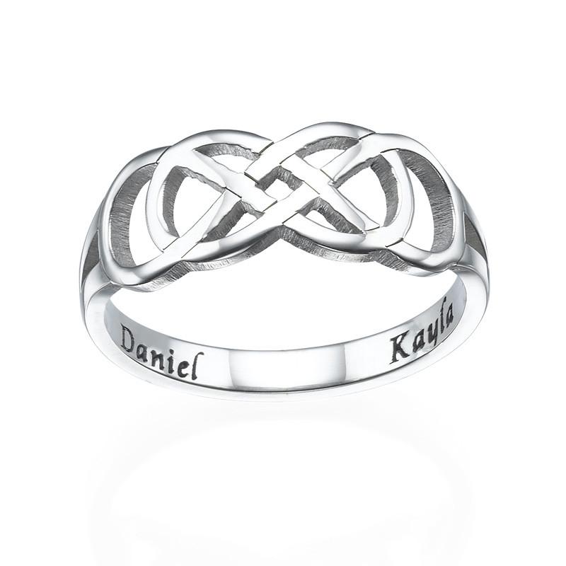 Dubbele Infinity Ring met Binnen Gravering - 1