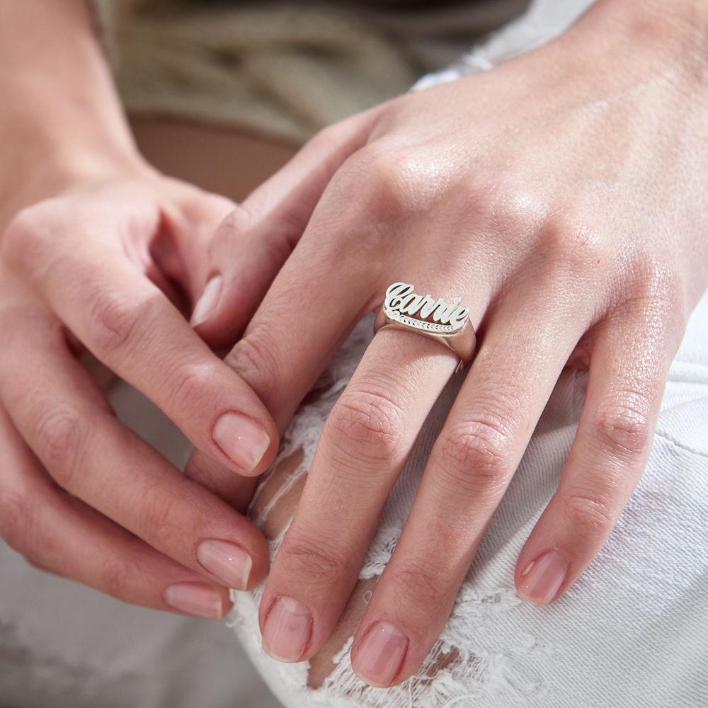 Naam Ring in 925 Zilver - 2