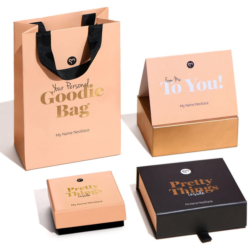 Gegraveerde Cirkel Hanger Linda ™ Ketting met blad en persoonlijke kralen in 18K Rosé Goud Verguld met diamanten - 7