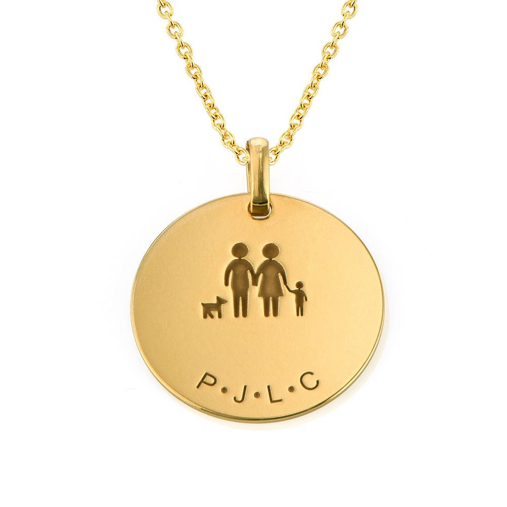 Familieketting in Goud Verguld Vermeil - 1