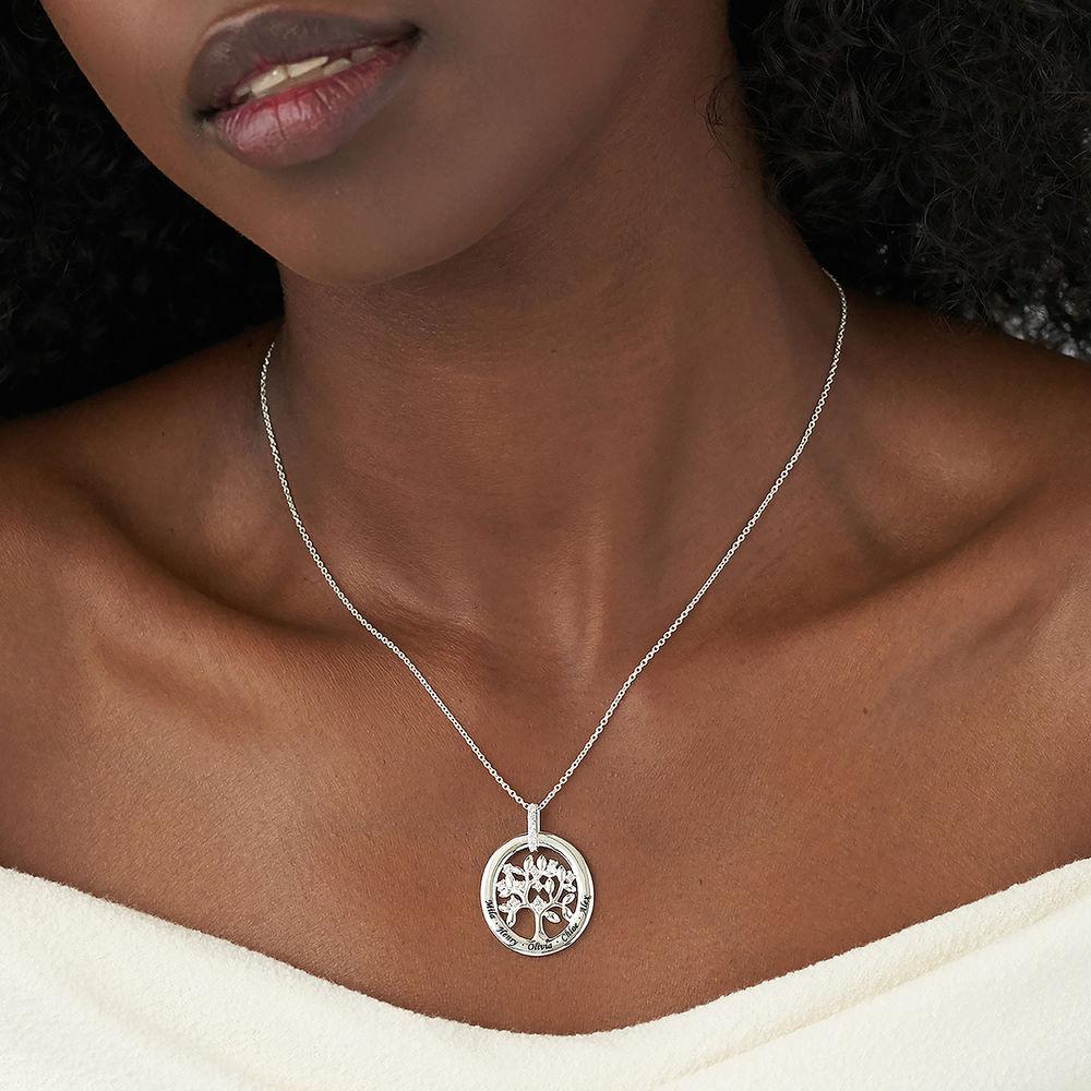 Gepersonaliseerde halsketting van de Sterling Zilveren Stamboom - 2