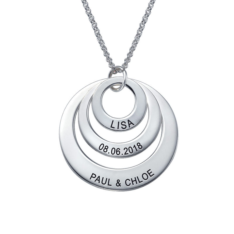 Drie Disc Mama Ketting in 925 Zilver - 2
