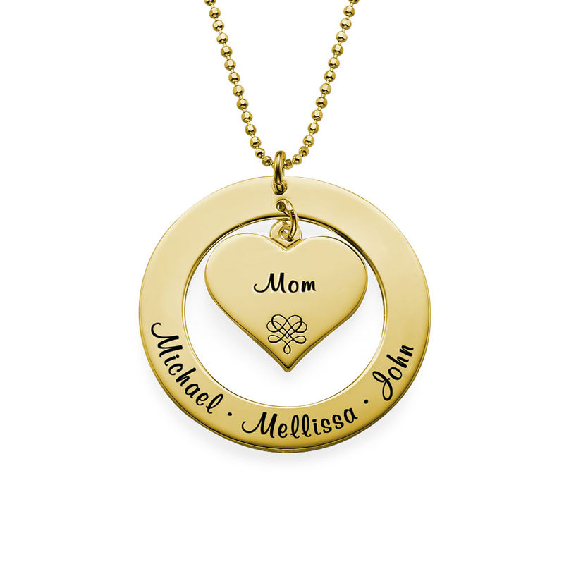 Mama Ketting in Goudverguld 925 Zilver - 1
