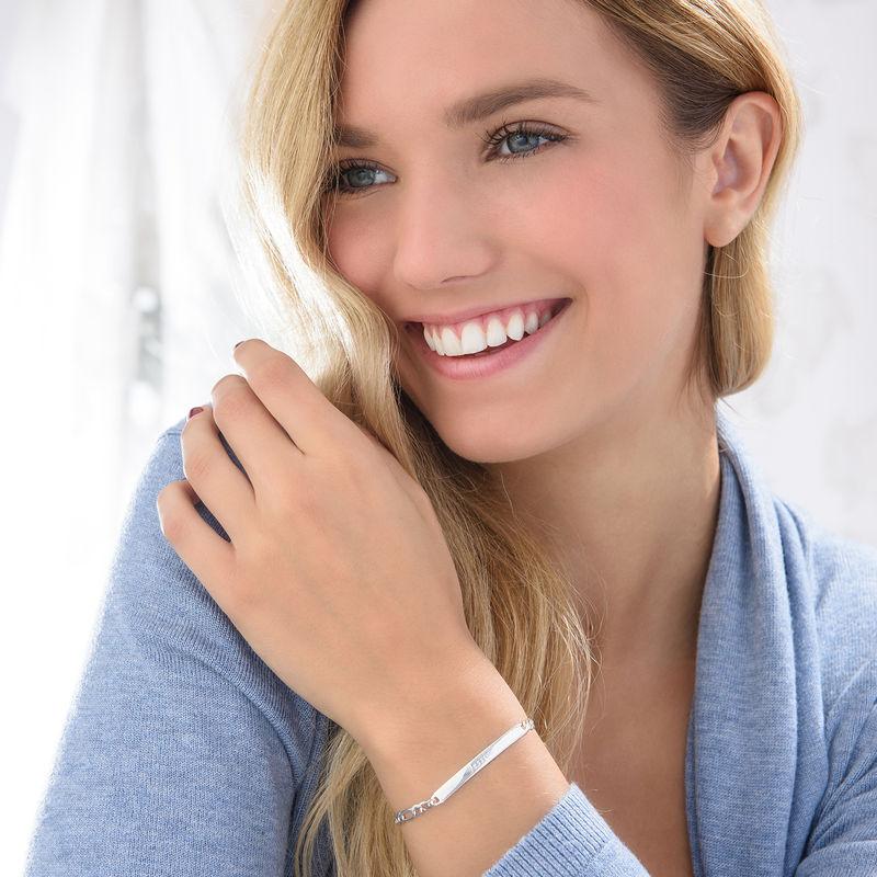 Zilveren (0.925) Vrouwelijke Naam armband - 2