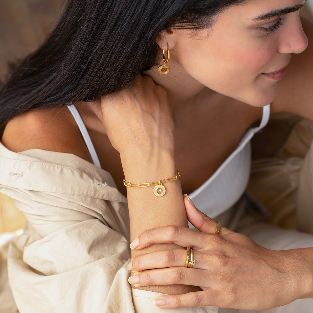 Odeion Link Armband in Gold Vermeil - 1