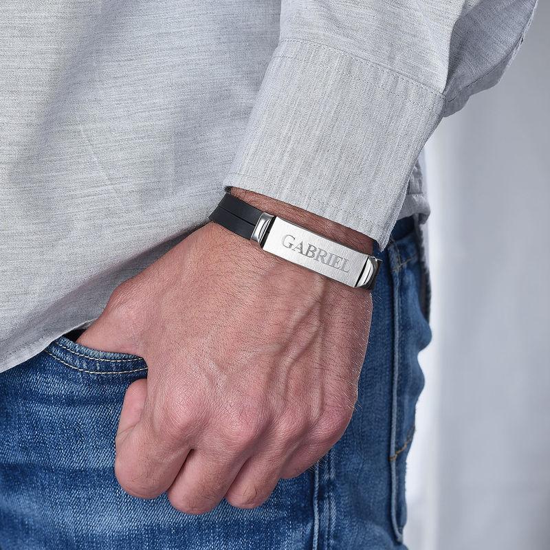 Gepersonaliseerde Leren Armband voor Heren - 4