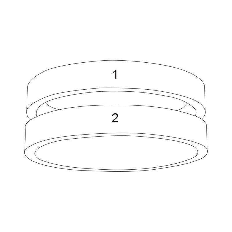Twee geelgoud vergulde naam ringen - 5