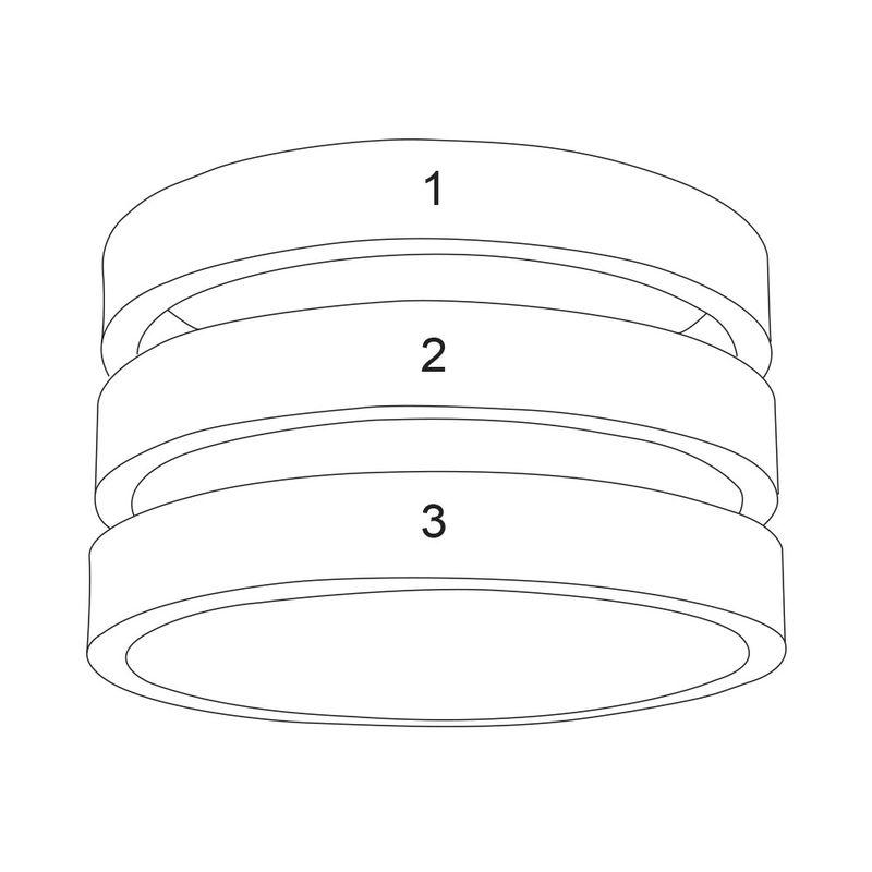 Drie geelgoud vergulde naam ringen - 5