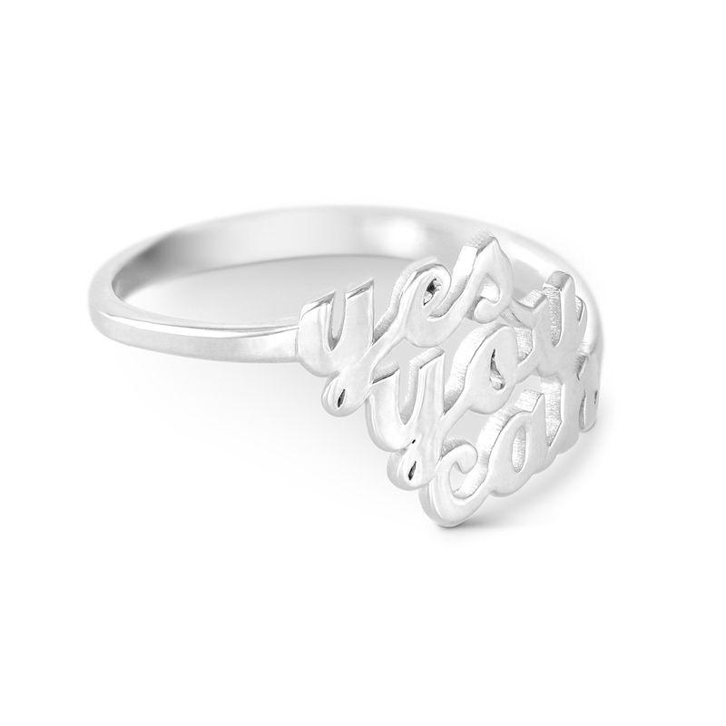 Sterling Zilveren Naam Ring met Drie Namen - 1