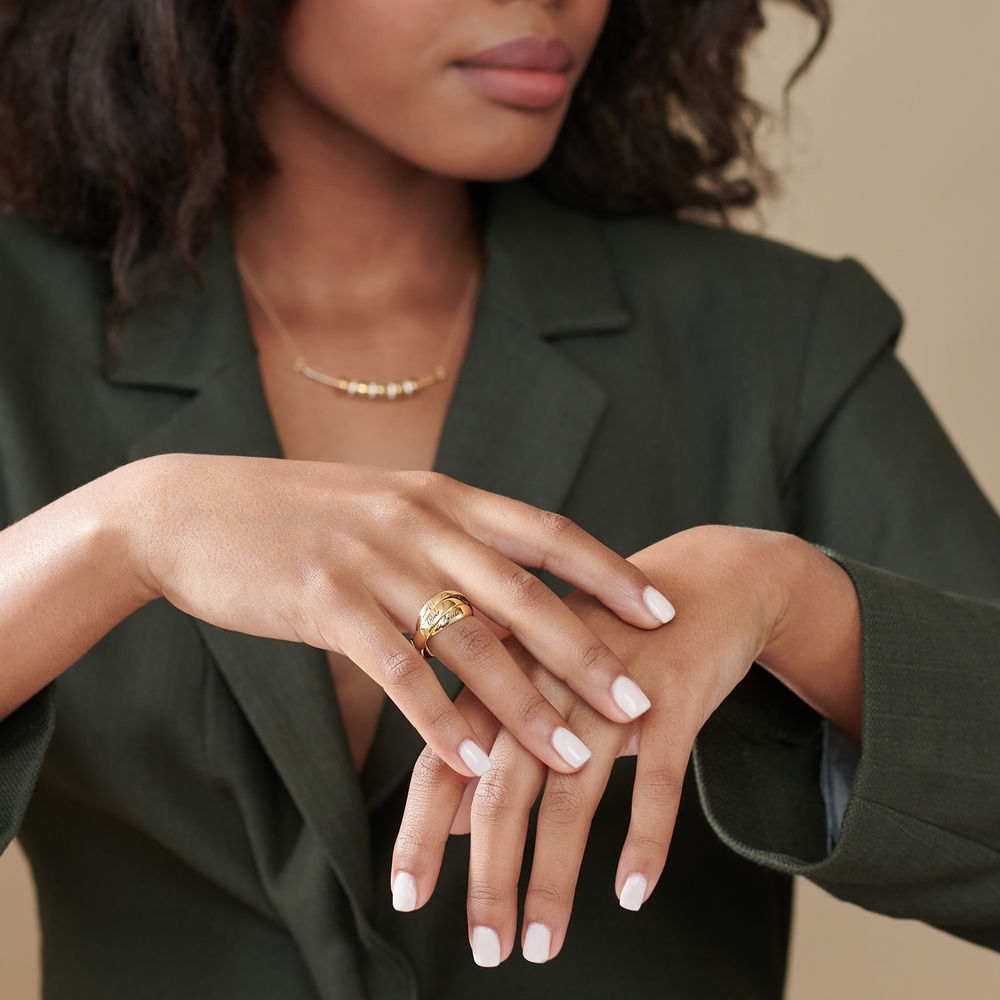 Charlize Russische Ring - 18k Goud Verguld Zilver - 3
