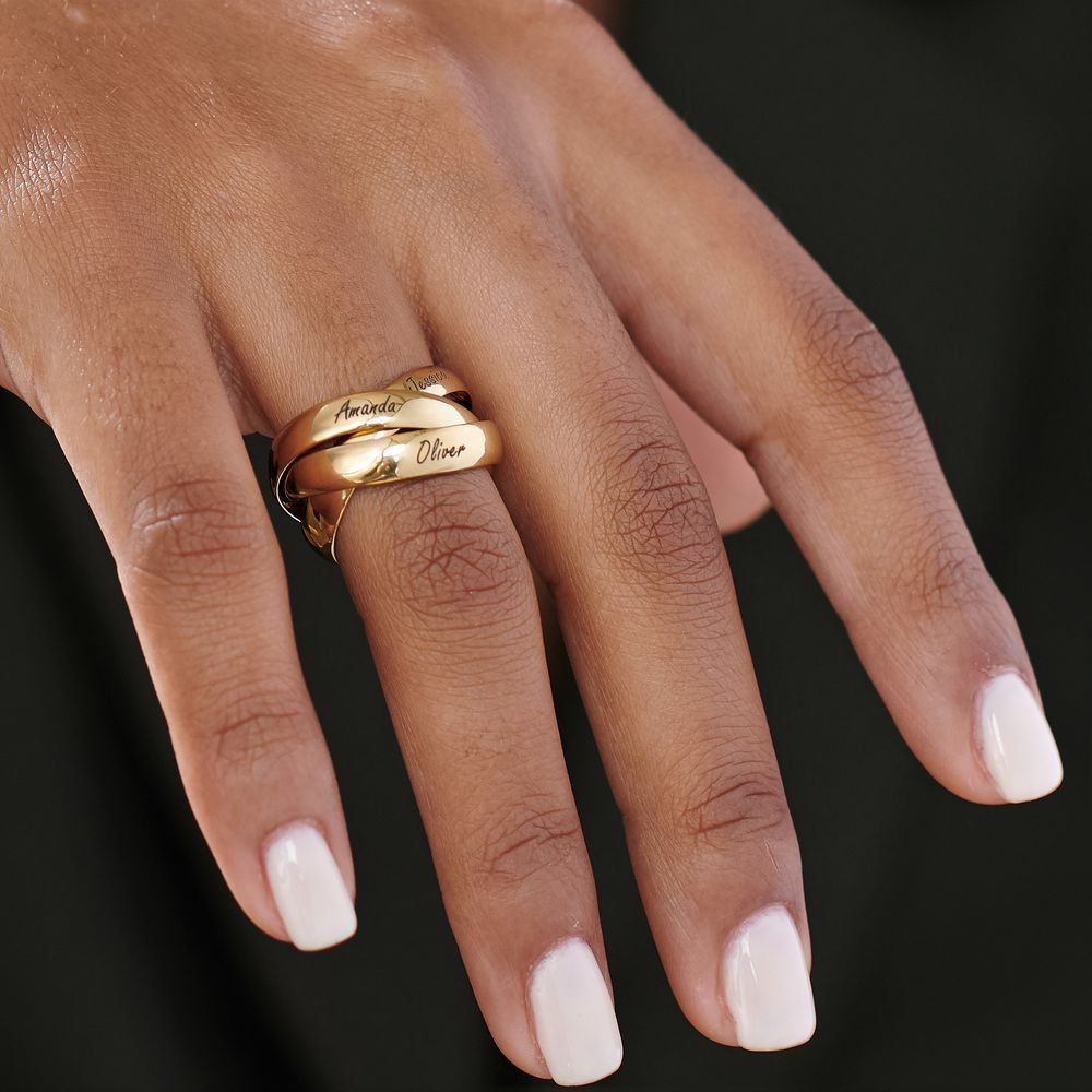 Charlize Russische Ring - 18k Goud Verguld Zilver - 4