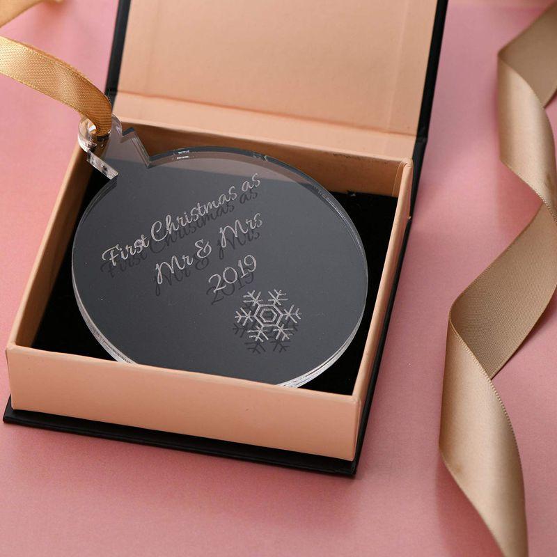 Gepersonaliseerd Kerst Ornament met sneeuwvlok - 1