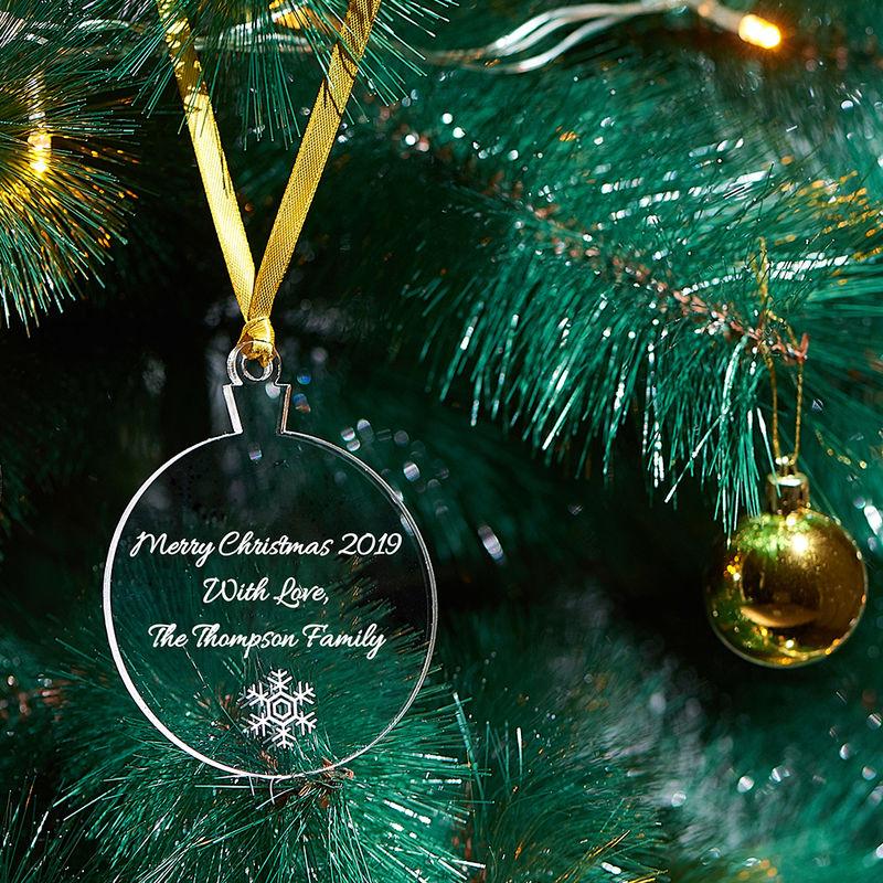 Gepersonaliseerd Kerst Ornament met sneeuwvlok - 2