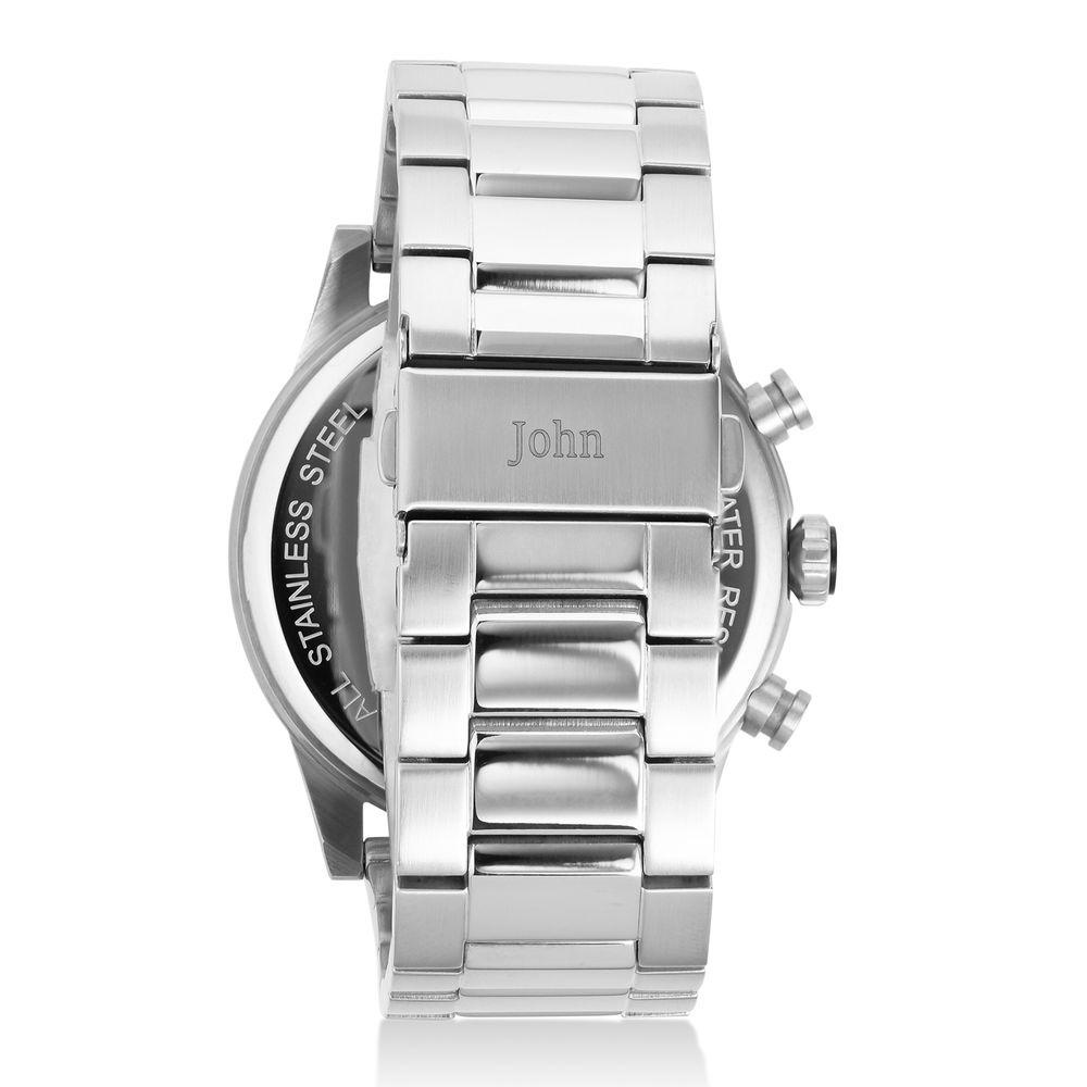 Quest chronograaf kwartshorloge roestvrij staal - 2
