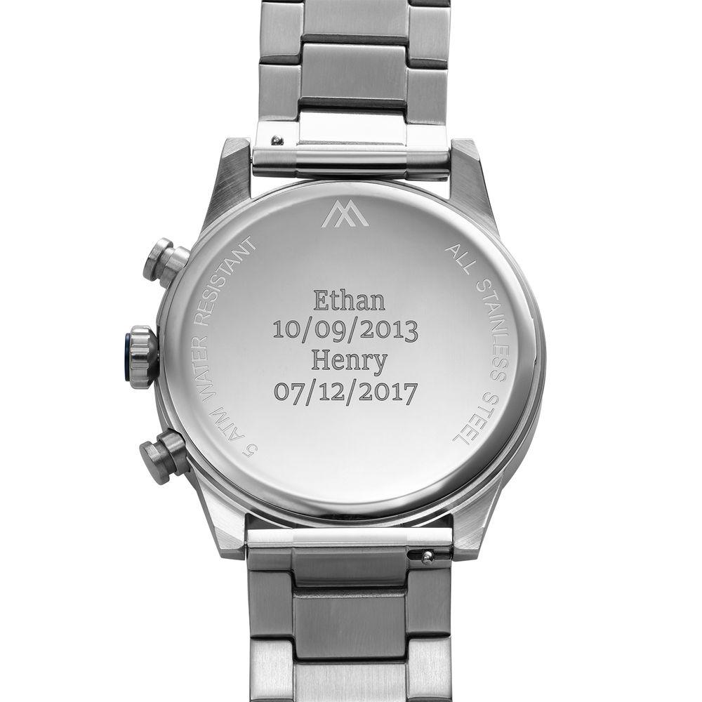 Quest chronograaf kwartshorloge roestvrij staal - 3