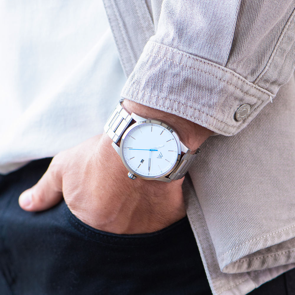 Quest chronograaf kwartshorloge roestvrij staal - 7
