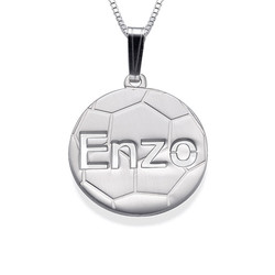 Voetbal Ketting in 925 Zilver Productfoto