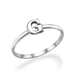 Letter Ring in 925 Zilver Productfoto