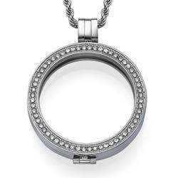 Zilveren Muntmedaillon met Cubic Zirkonia
