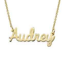 Gepersonaliseerde sieraden - cursieve naamketting in Goud Verguld Productfoto