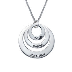 Drie Disc Mama Ketting in 925 Zilver Productfoto