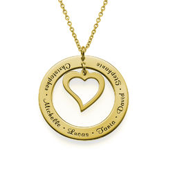 Love My Family Mama Ketting in Goudverguld 925 Zilver Productfoto