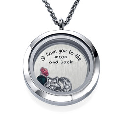 To the Moon and Back Floating Locket Productfoto