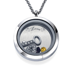 You Are the Key to My Heart Floating Locket Productfoto