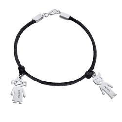 Moeders Echt Zilver gegraveerde 'Meisjes' Armband Productfoto