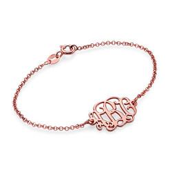 Monogram Armband in Rosé-Goud Verguld Zilver Productfoto
