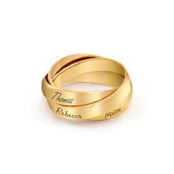 Charlize Russische Ring - 18k Goud Verguld Zilver Productfoto