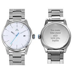 Odysseus Day Date Minimalistisch roestvrijstalen horloge Productfoto