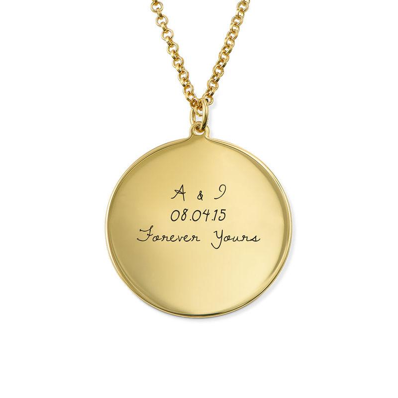 Gullbelagt medaljongsmykke med kjærlighetserklæring - 1