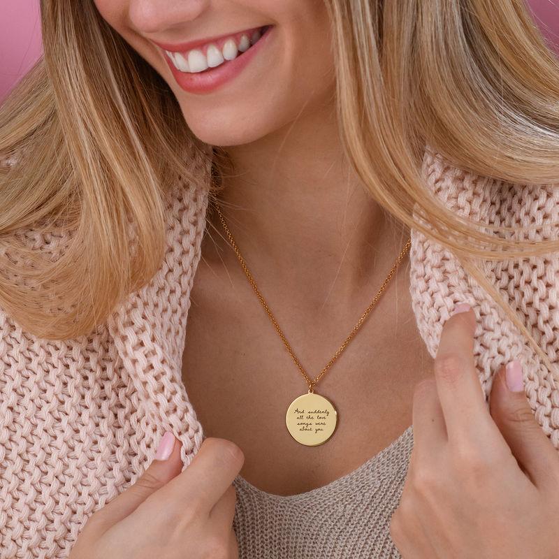 Gullbelagt medaljongsmykke med kjærlighetserklæring - 4