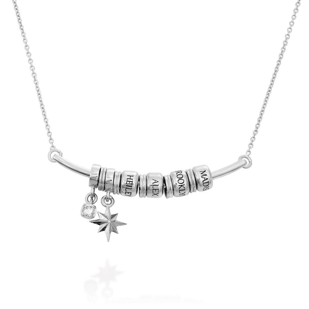 Smilende halskjede med Nordstjernen i sterling sølv