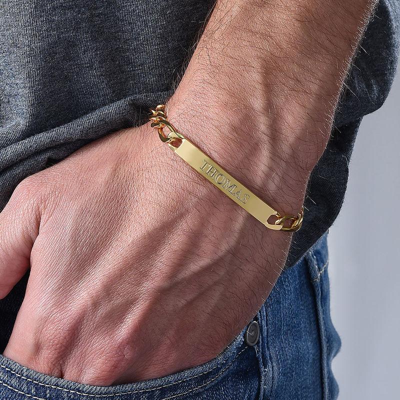 ID armbånd for menn med gullbelegg - 2