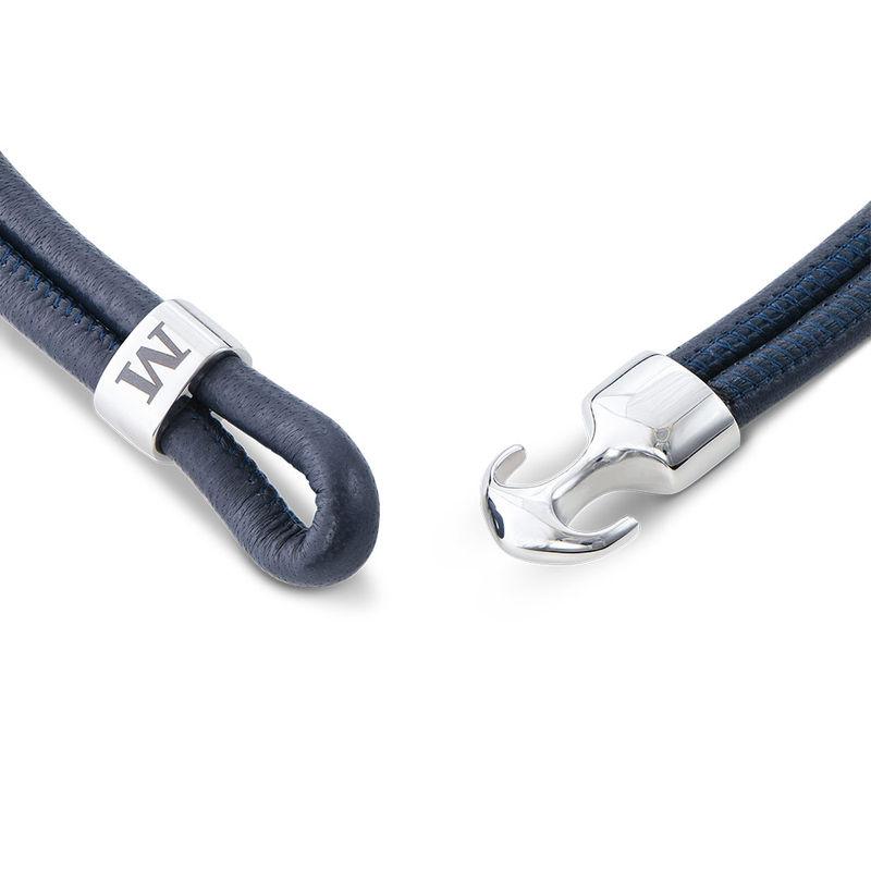 Inngravert anker armbånd for menn i sølv - 2