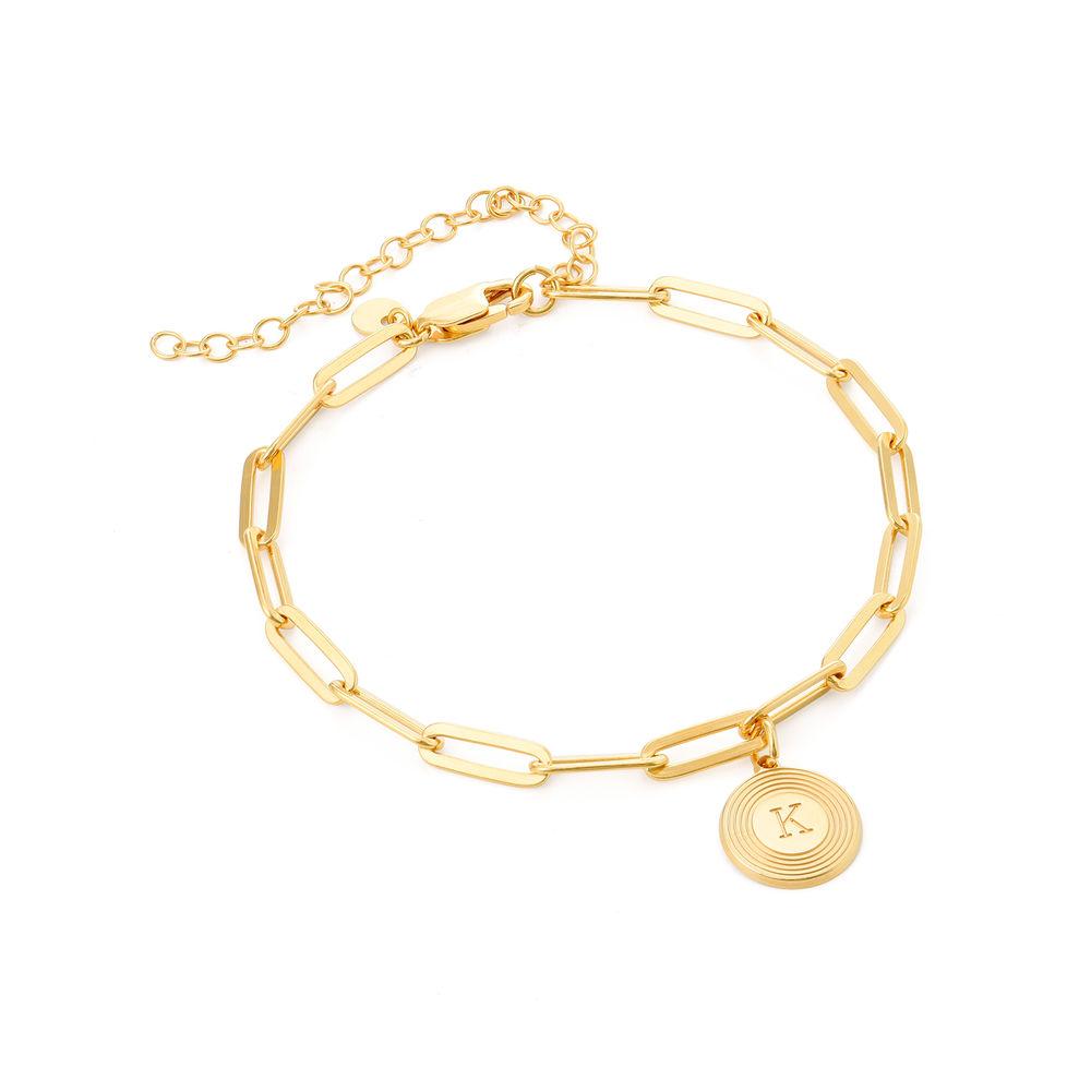 Odeion lenke armbånd/ankelkjede med initial i 18k gullforgylt sølv