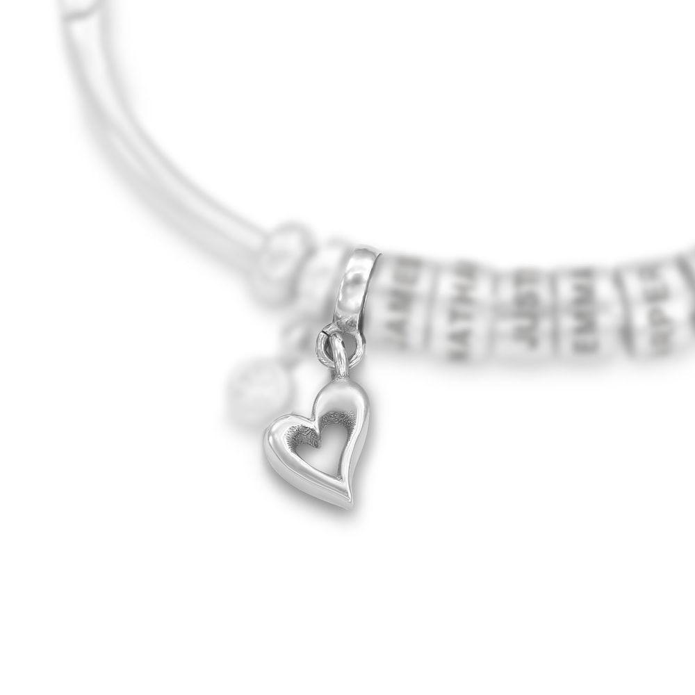 Hjerte Charm til Linda Familiesmykke i sølv