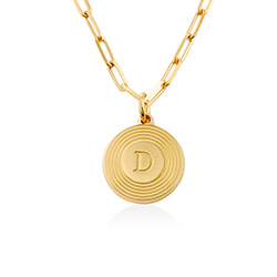 Odeion initialhalskjede i gull vermeil produktbilde